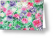 Swirl Dots By Jan Marvin Greeting Card