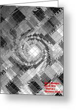 Swirl In A Checkered Mirror V Greeting Card