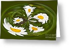 Swirl Of Daisies Greeting Card