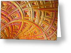 Swirling Rectangles Greeting Card