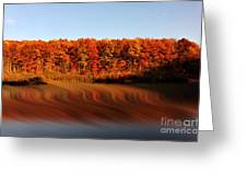 Swirling Reflections With Fall Colors Greeting Card by Dan Friend