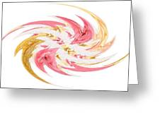 Swirling Roses Abstract  Greeting Card