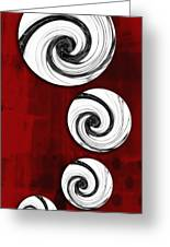 Swirling Round Greeting Card