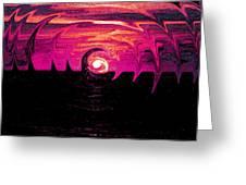 Swirling Sunset In Fuchsia  Greeting Card
