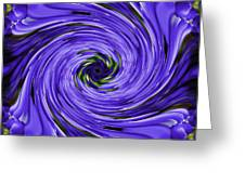 Swirls Of Blue Greeting Card