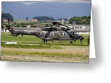 Swiss Air Force Eurocopter Cougar Greeting Card