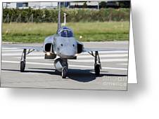 Swiss Air Force F-5e Tiger Recovering Greeting Card