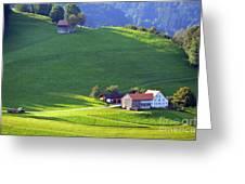 Swiss Farm House Greeting Card