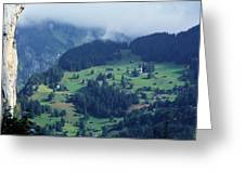 Swiss Mountain Village Greeting Card