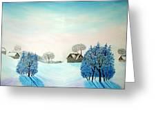 Swiss Opus Blue Christmas Greeting Card