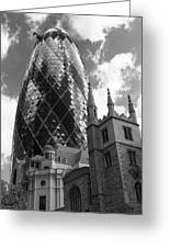 Swiss Re Tower In London Greeting Card