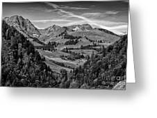 Swiss Valley Bw Greeting Card