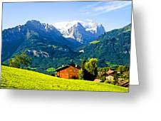 Switzerland Oil On Canvas Greeting Card
