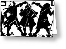 Sword Duel Silhouette  Greeting Card