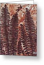 Sword Fern Fossil Greeting Card by Katherine Young-Beck