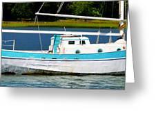 Swordfish Boat Pano Greeting Card