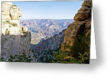 Swtichback Trails On The Steep Walls Of The Grand Canyon Greeting Card