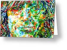 Syd Barrett - Watercolor Portrait Greeting Card