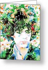 Syd Barrett Watercolor Portrait.1 Greeting Card