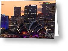 Sydney At Sunset Greeting Card