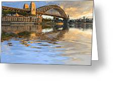 Sydney Harbour Bridge Australia Spectacular Early Morning Light Greeting Card