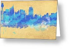 Sydney In Blue Greeting Card