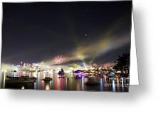 Sydney Navy Fleet Fireworks Greeting Card