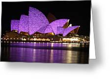 Sydney Opera During Vivid Sydney Festival Greeting Card