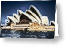 Sydney Opera House V11 Greeting Card