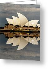 Sydney Opera House With Clouds Greeting Card