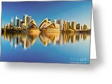 Sydney Skyline With Reflection Greeting Card