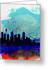 Sydney Watercolor Skyline Greeting Card