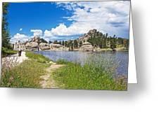 Sylvan Lake Trail In Custer State Park-south Dakota Greeting Card