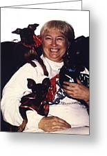 Sylver Short With Her Miniature Pinschers Christmas 2002-2008 Greeting Card