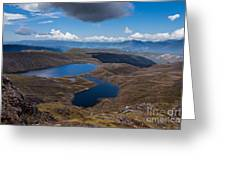 Sylvester Lakes In Kahurangi National Park Nz Greeting Card