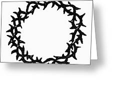 Symbol Crown Of Thorns Greeting Card
