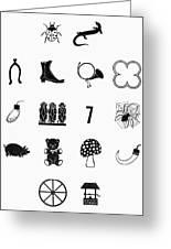 Symbols Good Luck Greeting Card
