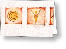 Symbols In Stone Greeting Card