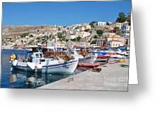 Symi Island Greece Greeting Card