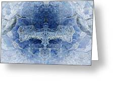 Symmetrical Ice 2 Greeting Card