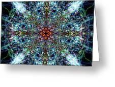 Symmetrical Silk Strands Greeting Card