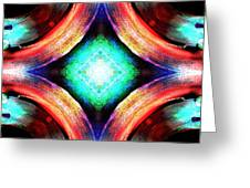 Symmetry Of Colors Greeting Card
