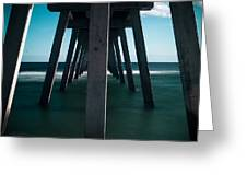Symmetry Under The Pier  Greeting Card