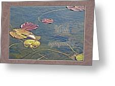 Sympathy Greeting Card - Autumn Lily Pads Greeting Card