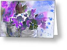 Symphony In Blue And Purple Greeting Card