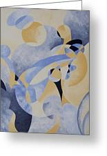 Syncopation In Blue Greeting Card