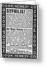 Syphilis Cure, 1890s Greeting Card