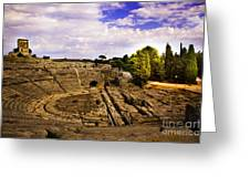 Syracuse Ampitheatre  II - Sicily Greeting Card