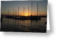 Syracuse Harbor Sunset Greeting Card