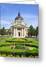 Szechenyi Baths In Budapest Greeting Card